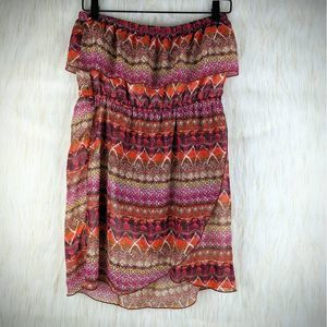 Rue 21 Aztec Boho Tube Top Dress Size Large